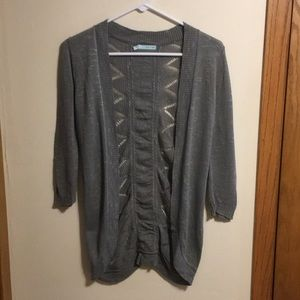 Maurices 3/4 sleeve cardigan with patterned back